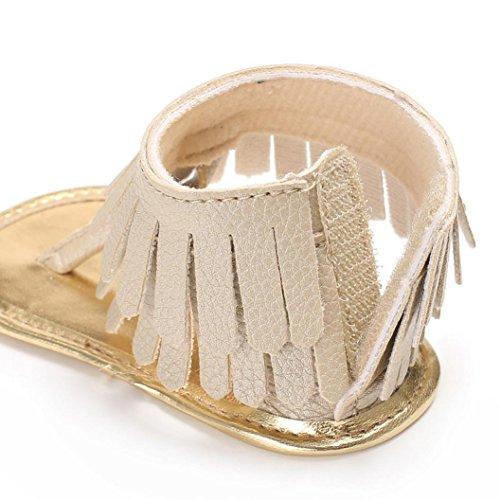 Igemy 1 Paar Kleinkind Mädchen Krippe Schuhe Neugeborene Blume Soft Sohle Anti-Rutsch Baby Sneakers Sandalen Gold