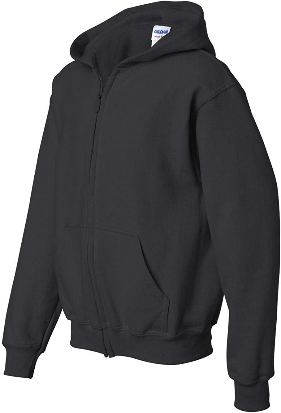 Gildan Big Boys Heavy Blend Ribbed Full-Zip Hooded Sweatshirt