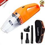 Car Vacuum Cleaner DC 12V Wet Dry Auto Dustbuster Portable Handheld Auto Vacuum Cleaner for Car 4000Pa Suction 120W Car Hoover with HEAP Filter & 5 Meters/16.4 FT Power Cord(1 Yr Warranty) Orange