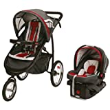 Graco FastAction Fold Jogger Click Connect Travel System, Chili Red...