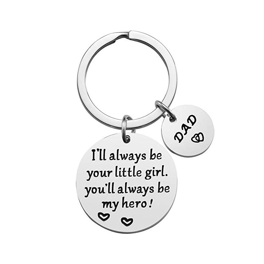 Fathers Gifts Keychain-Fathers Day Birthday Gift From Daughter Son Children