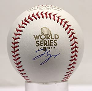 George Springer Autographed Signed Houston Astros World Series MLB Baseball Steiner Sports TriStar Authentic COA & Hologram
