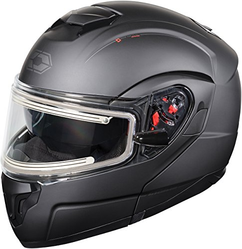674c0a9d Castle X Atom SV Electric Modular Snowmobile Helmet (LRG, Matte Black)