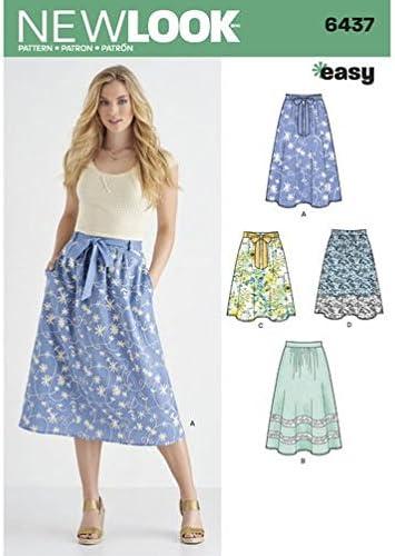 New Look patrones de costura para falda en dos longitudes con tela ...