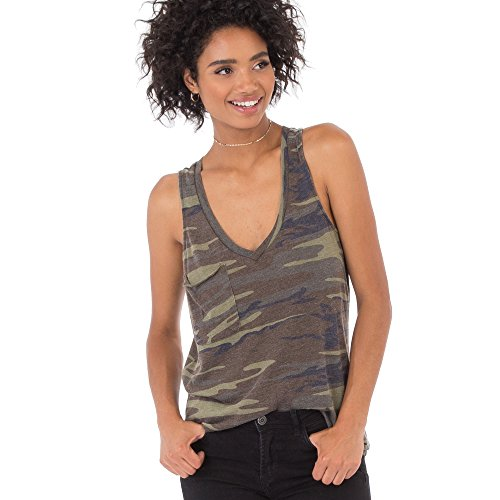 Z SUPPLY Women's The Camo Pocket Racer Tank, Camo Green, X-Small