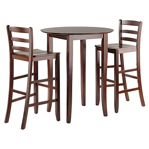Winsome Fiona High Round Table with Ladder Back Stool, (Fiona High Table)