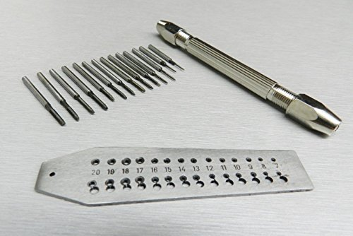 MINI TAP AND DIE SET 14 TAPS & SCREWPLATE & PIN VISE SET 0.7-2mm JEWELRY MAKING (Miniature Machine Tools compare prices)