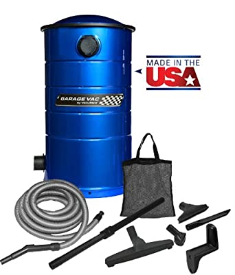 VacuMaid GV30B Wall Mounted Garage and Car Vacuum with 30 ft hose and Tools