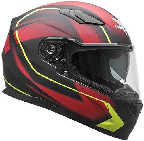 Vega Helmets RS1 Street Sunshield - Casco de moto, rojo (Red Slinger Graphic), Mediano