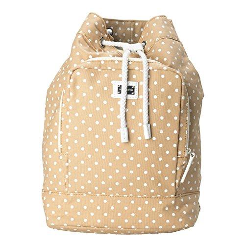 Dolce & Gabbana Beige White Polka Dot Women's Drawstring Backpack Bag by Dolce & Gabbana