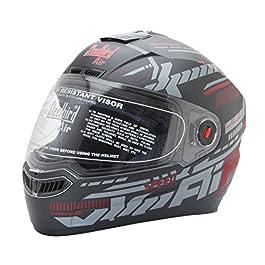 Steelbird SBA-1 Speed Mat Black & Red Mat Black & Red Full Face Helmet(Black:Red_Large)
