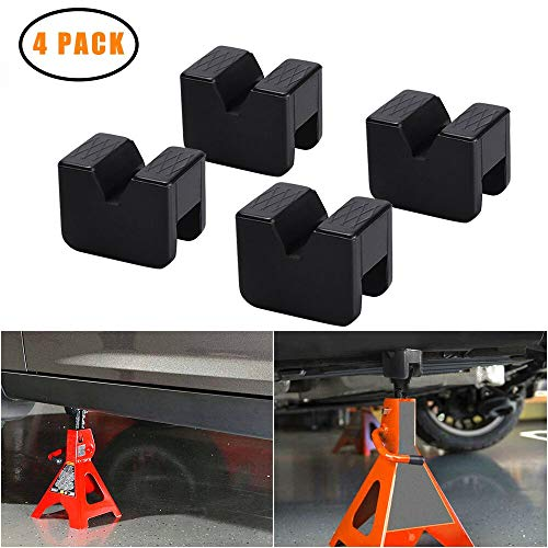 Trump auto Jack Pad Jack Lift Pad Adapter Tool Adapter Jack Stand for 2-3 Ton Universal Jack Rubber Slotted Frame Stand Rail Pinch welds Protector (4 Pack)
