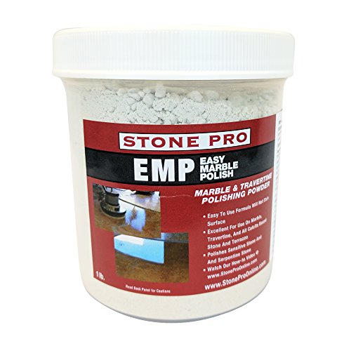 Stone Pro Easy Marble Polish (EMP) - Marble and Terrazzo Polishing Powder - 1 Pound ()