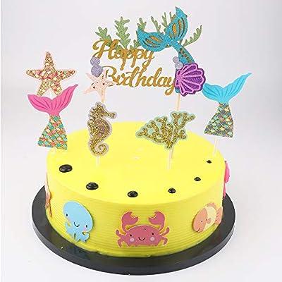 Miraculous Amazon Com Happy Birthday Cake Topper Party Cake Ornament Personalised Birthday Cards Akebfashionlily Jamesorg