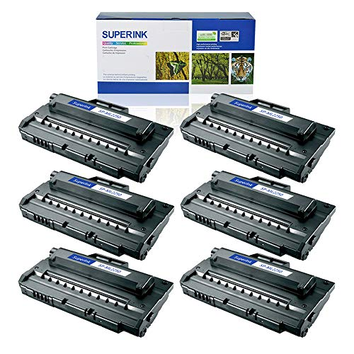 SuperInk 6 Pack High Yield Compatible Toner Cartridge Replacement for Samsung ML-2250 ML-2250D5 Black use in Samsung ML-2250 ML-2251N ML-2251NP ML-2251W ML-2252W Printer ()