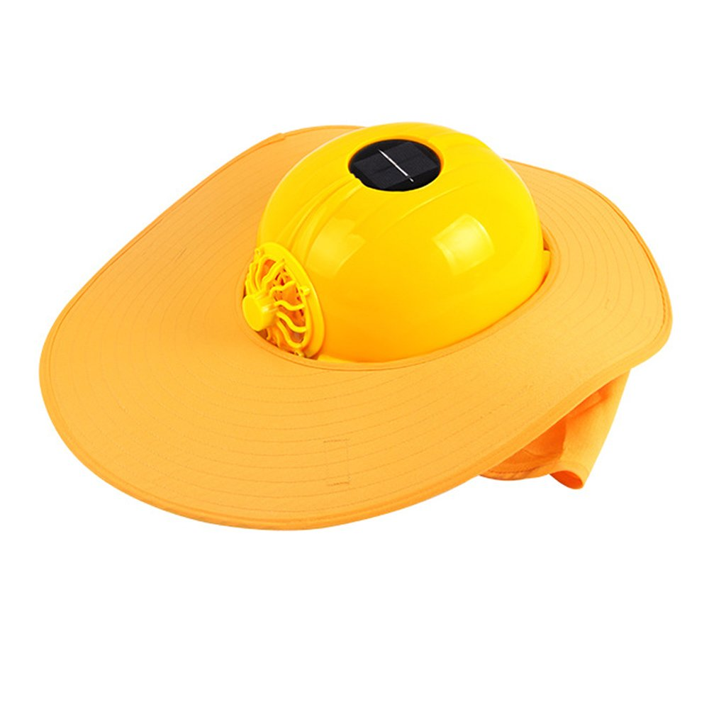 Cowin Sun Shield Hard Hat with Solar Fan, Safety Hard Hat with Brim for Shade, Conctruction Helmet Keep You Cool in Hot Summer ¡ Cowin Solar