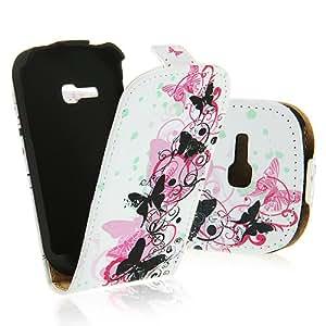 Electro-Weideworld Nuevo PU Color Flip Funda de Cuero La Protección Piel Cierre Magnético Imán Carcasa para Samsung Galaxy Fame Lite S6790 #04