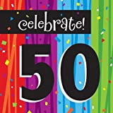 16-Count Paper Lunch Napkins, Celebrate 50, Milestone Celebrations