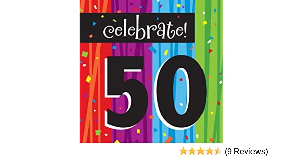 16-Count Paper Lunch Napkins Celebrate 50 Milestone Celebrations Creative Converting 660583