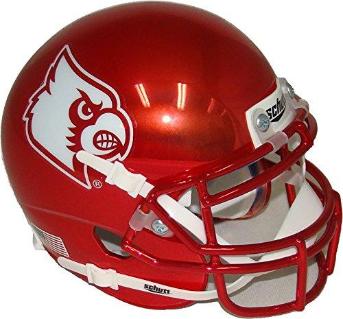 Louisville Cardinals Alternate Red Chrome Schutt Authentic Mini ()