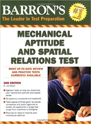 Barron's Mechanical Aptitude and Spatial Relations Test: Dr  Joel