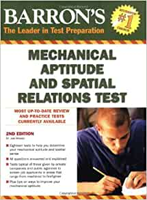 Barrons mechanical aptitude and spatial relations test dr joel barrons mechanical aptitude and spatial relations test dr joel wiesen 9780764141089 amazon books fandeluxe Image collections