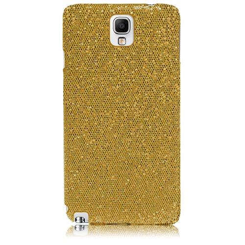 Xtra-Funky Exclusivo brillantes caso del brillo chispeante de lentejuelas del brillo para Samsung Galaxy Note 3 - Oro Oro