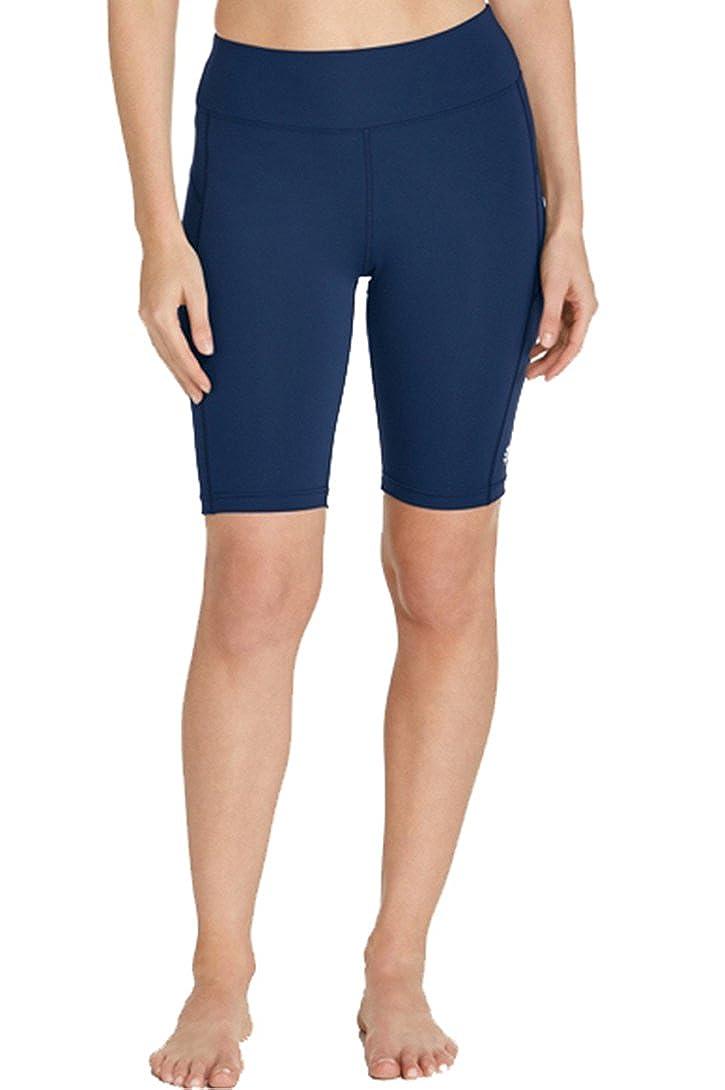 Micosuza Womens Long Swim Shorts Tankini Bottom Beachwear Rash Guard Boy Leg Boardshorts Sun Protection