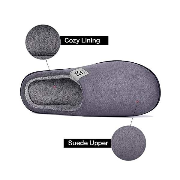 HMIYA Pantofole da casa per Donna Uomo Inverno Peluche Memory Foam Ciabatte da casa – Ultra-Leggero, Antiscivolo, Caldo, Confortevole