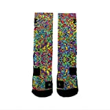 HoopSwagg Brand Athletic Socks Graffiti Large