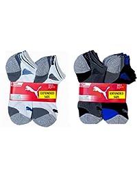 Men's No show Sport Socks, Moisture Control, Arch Support (8 Pair)