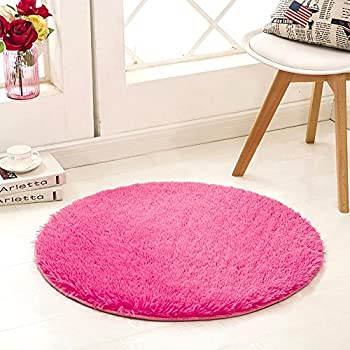 Amazon.com: Noahas 4-Feet Luxury Round Area Rugs Super Soft Living ...
