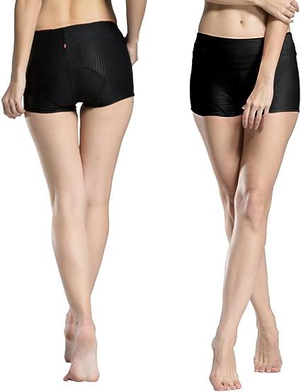 ANGTUO Frauen 3D gepolsterte Unterhose Fahrrad Radfahren Shorts Hosen sto/ßfest mit hoher Luftdurchl/ässigkeit