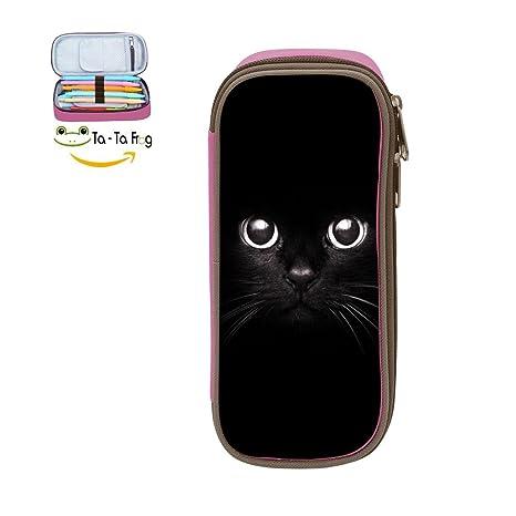 Amazon.com: Estuche para lápices con diseño de cara de gato ...