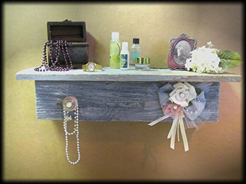 Shelf Wood Baby Nursery Decor Shabby Chic Princess Bed Girls Bedroom Gray Pink Ivory Storage Country Lace Vintage display Chalk paint SALE