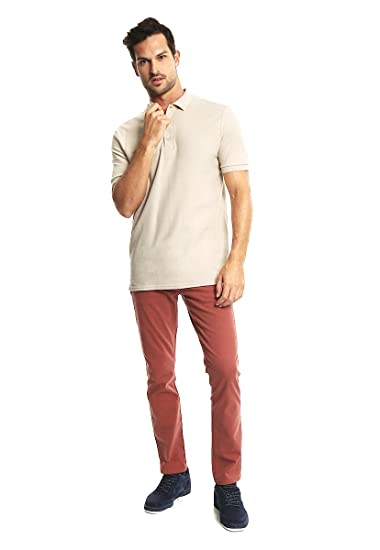 Gildan Playera tipo Polo Beige Polo para Hombre Beige Talla M   Amazon.com.mx  Ropa 90a9d2c1bfb46