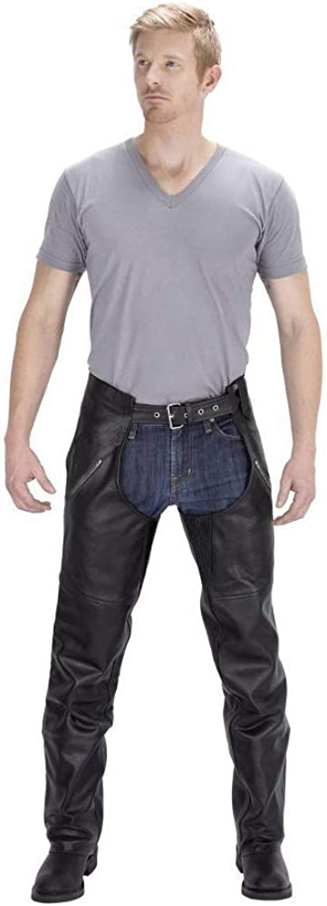 Plain Motorcycle Leather Chaps For Men Viking Cycle Leather Chaps