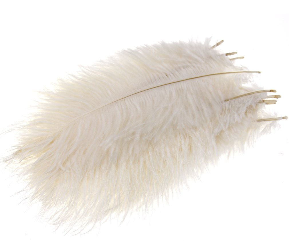 """10 x Arts Crafts Fluffy Ostrich Feathers 10/""""-12/"""" Long"""