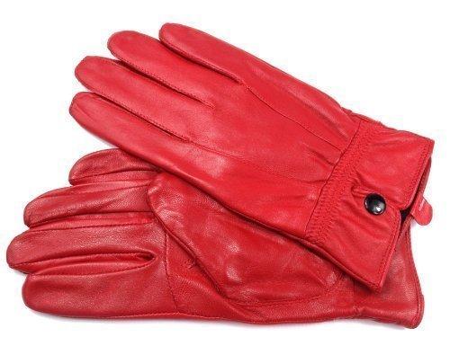 Leather Emporium Damen Lederhandschuhe Weich Voll Gefüttert - S, Rot