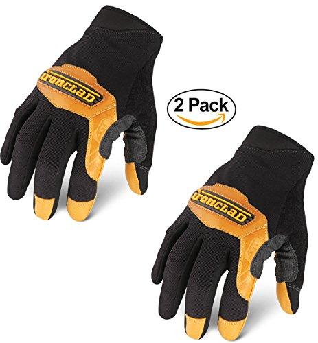 (Ironclad YS-RWC-05-XL Ranchworx Cowboy Glove (2 Pack), X-Large, Black/Tan)