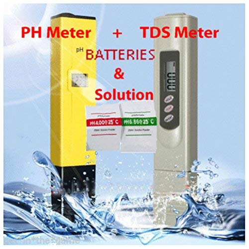 Digital Ph Meter + TDS Tester Aquarium Pool Hydroponic Water Monitor 0-9999 PPM by expert store