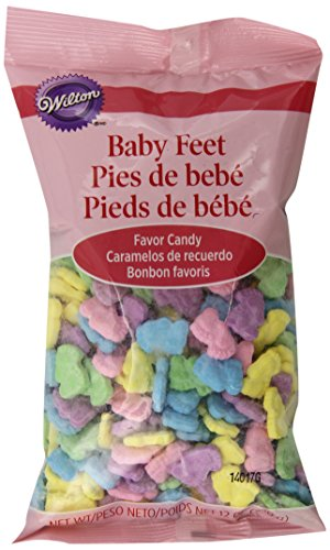 Baby Shower Shaped Candy - Wilton 1006-9047 Baby Feet Favor Candy, 12-Ounce