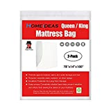 Larger Than King Size Mattress HOMEIDEAS 3 Mil Thick Mattress Bag for Moving and Storage, Not Clear Mattress Bag Protecting Mattress and Your Privacy,Pack of 2, Fits Queen and King Size