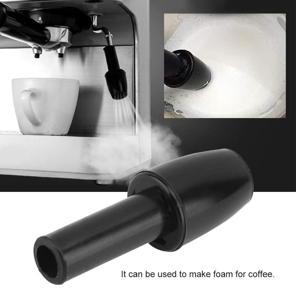 cafetera cafetera de repuesto de espuma de leche caf/é cocina leche t/é boquilla de vapor para casa Boquilla de pl/ástico reutilizable para cafetera