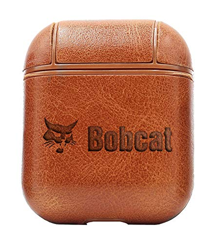 Logo Bobcat 2 (Vintage Brown) Air Pods Protective Leather Case Cover - a New Class of Luxury to Your AirPods - Premium PU Leather and Handmade exquisitely by Master Craftsmen