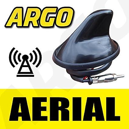 Vauxhall 12 V Negro aleta de tiburón antena Aero COCHE antena ...