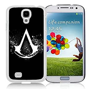 Samsung Galaxy S4 Case,2015 Hot New Fashion Stylish Assassins Creed Logo White Case Cover for Samsung Galaxy S4 i9500