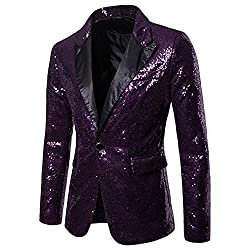 Men's One Button Sequin Dress Suit