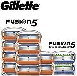 Gillette Fusion5 Men's Razor 10 Refills + 2 Refills of Fusion5 Proglide Blades