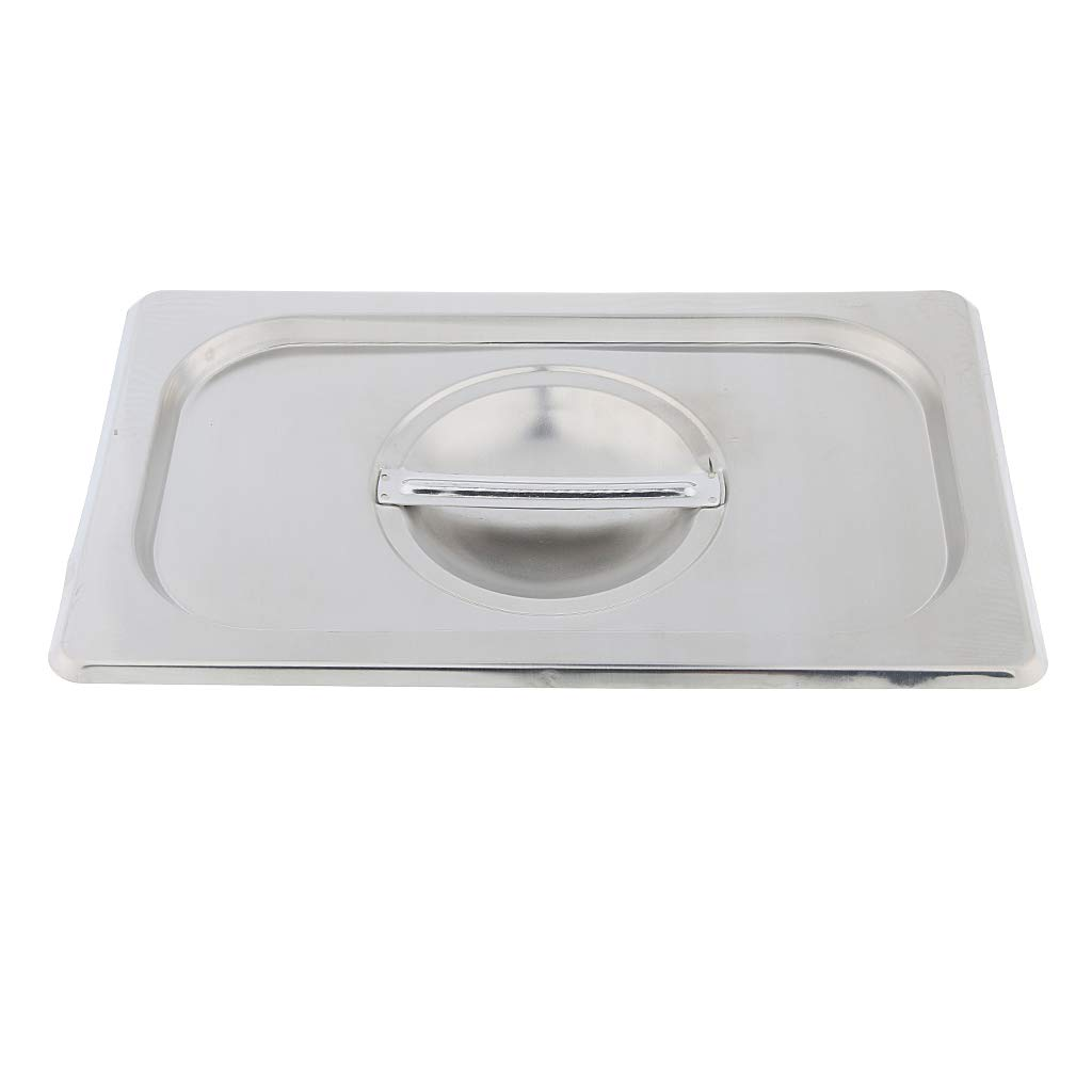 D DOLITY 1/4 Lid Food Pan Stainless Restaurant Hotel Steam Table